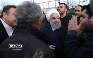 بازدید روحانی از روستای زلزلهزده دره ژاله در کرمانشاه