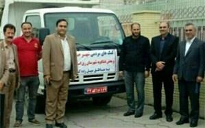 ارسال کمک های مردمی از فشافویه به مناطق سیل زده خوزستان