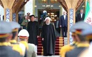 استقبال رسمی روحانی از نخست وزیر پاکستان در سعدآباد