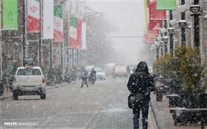 بارش برف  زنجان را فرا گرفت
