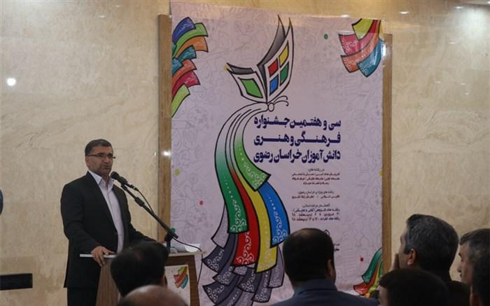 کاروان ۳۰۰ نفری دانش آموزان برگزیده   خراسان رضوی به مرحله کشوری مسابقات فرهنگی،هنری اعزام می شوند