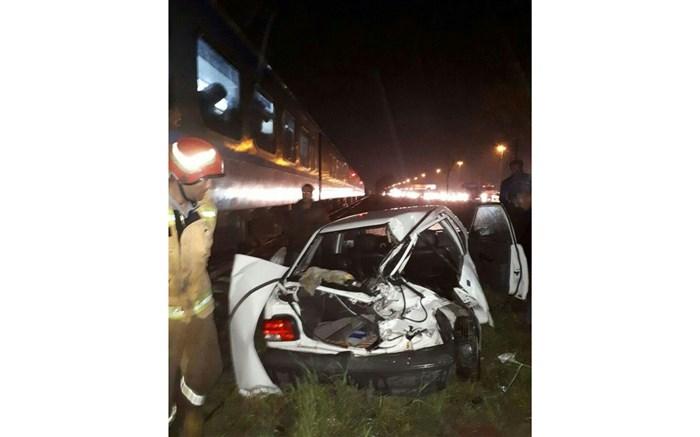 برخورد قطار و پراید در ساری یک کشته بر جا گذاشت
