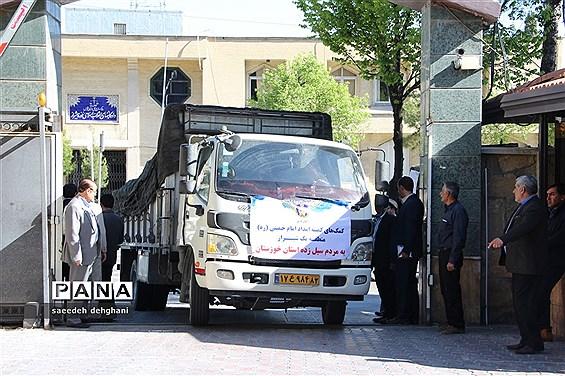 ارسال کمکهای مردم نوعدوست  استان فارس به استانهای سیل زده