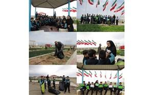 زمین پاک؛ شعاری که دانش آموزان مدرسه پسرانه سما ایوانکی عملیاتی کردند