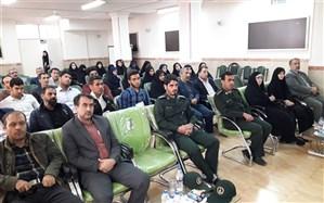 برگزاری مراسم تکریم و معارفه فرماندهان حوزه مقاومت بسیج دانش آموزی و فرهنگیان چهاردانگه