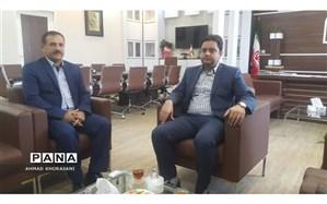 جلسه مدیر آموزش و پرورش شهرستان لالی با مدیر کل اداره نوسازی مدارس استان خوزستان