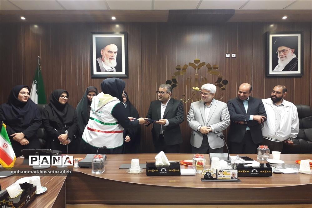 دیداراعضای تشکیلات سازمان دانش آموزی استان گیلان با اعضای شورای اسلامی شهررشت