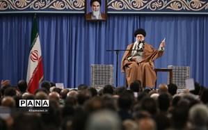 دیدار معلمان و فرهنگیان با رهبر انقلاب