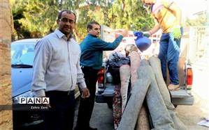 اعزام دومین کاروان کمکهای دانش آموزان محمودآبادی به مناطق سیلزده