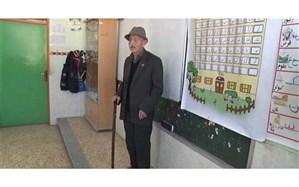 تجلیل از سالخوردهترین معلم در قدیمیترین مدرسه خلخال
