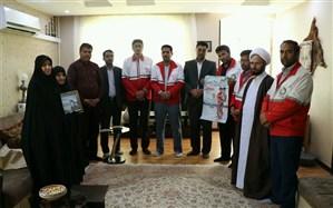 دیدار با خانواده شهید ملی بمناسبت هفته هلال احمر