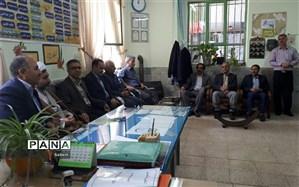 حضور رئیس دانشگاه آزاد اسلامی شیروان در جمع کارکنان و دانش آموزان مدارس سما
