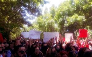 شماری از دانشجویان دانشگاه تهران تجمع کردند