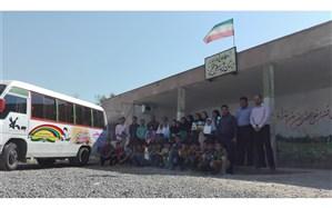 پیک امید کتابخانه سیار کانون خوزستان در روستای سید شریف شهرستان باوی