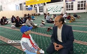 استقبال دانش آموزان کاشمر از جلسه قرآن باغمزار