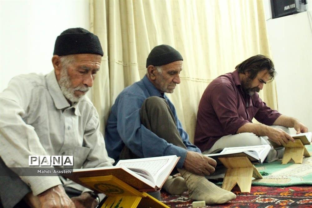 مراسم ترتیل خوانی قرآن در مسجد جامع شهرستان خوسف خراسان جنوبی