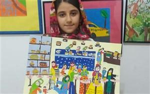 درخشش عضو کانون خوزستان در مسابقه بینالمللی نقاشی سازمان جهانی بهداشت