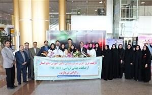 استقبال از تیم دوومیدانی دانش آموزان دختر خراسان رضوی