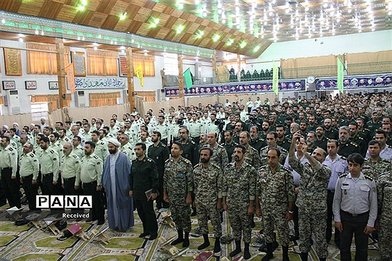 صبحگاه مشترک قرآنی نیروهای مسلح مازندران
