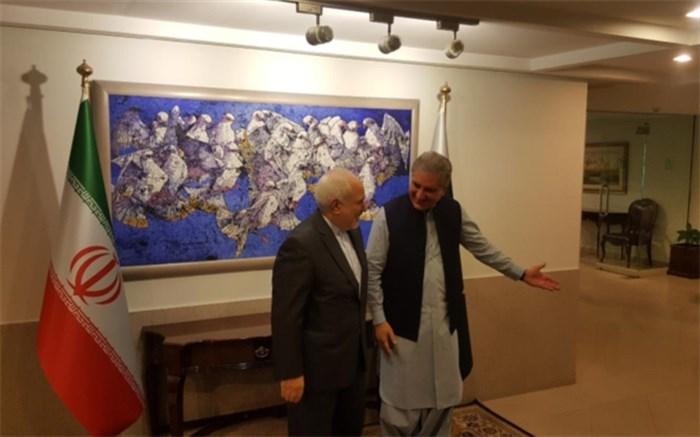 ظریف و وزیر امور خارجه پاکستان