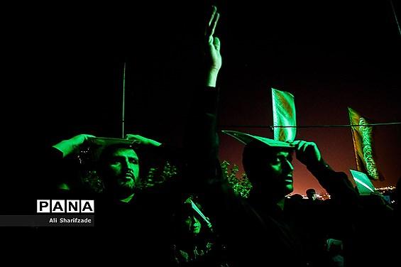 مراسم احیا شب نوزدهم ماه مبارک رمضان در مقبره الشهدای چیتگر
