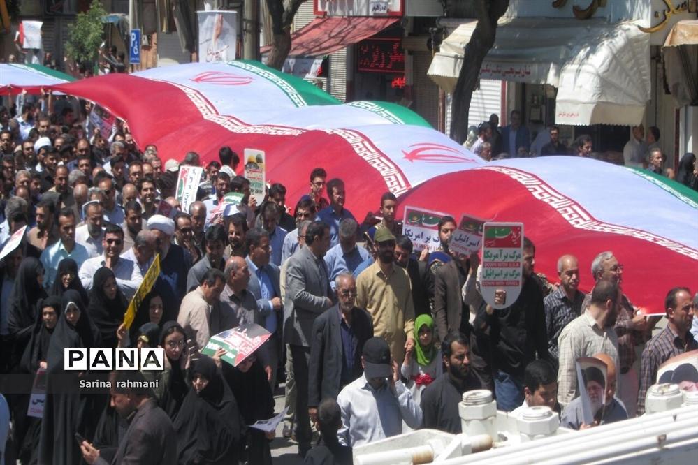 راهپیمایی روز قدس در کرمانشاه