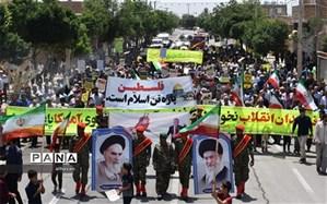راهپیمایی روز قدس در بهاباد برگزار شد