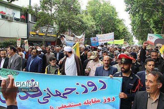 راهپیمایی روز قدس در خراسان شمالی