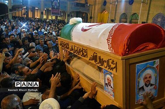 مراسم وداع با امام جمعه شهرستان کازرون