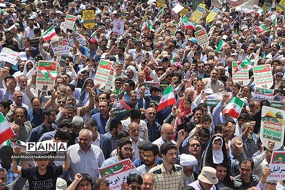 برگزاری راهپیمایی عظیم روز قدس در یزد