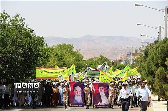 راهپیمایی روز قدس شهرستان درمیان