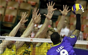 لیگ ملتهای والیبال؛  برزیل شوک کانگوروها را رد کرد