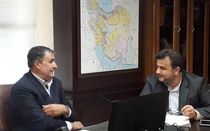 دیدار استاندار مازندران و وزیر راه و شهرسازی