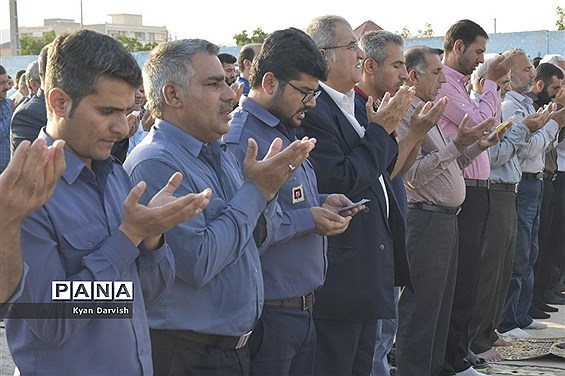 اقامه نماز عید فطر در امیدیه