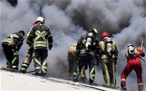 آتشسوزی مجتمع تجاری در غرب تهران