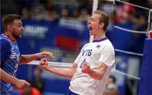 لیگ ملتهای والیبال؛ روسیه با برد آسان مدعی شد