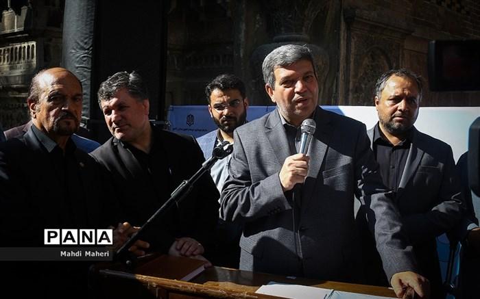 تشییع پیکر محمد رضا حافظی رئیس جامعه خیرین مدرسه ساز
