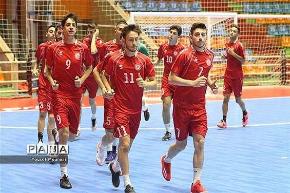 تمرین رسمی تیمهای شرکت کننده در مسابقات فوتسال قهرمانی زیر ۲۰سال آسیا