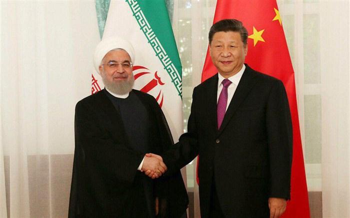 روحانی و رئیس جمهوری چین