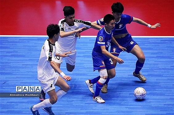 بازی دو تیم عراق و چین تایپه فوتسال زیر 20 سال آسیا