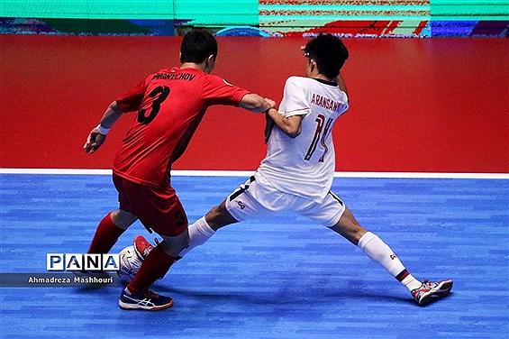 دیدار تیمهای فوتسال تایلند و قرقیزستان از مسابقات فوتسال زیر ۲۰ سال آسیا در تبریز