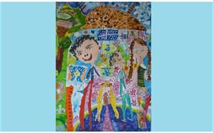 نشان و دیپلم افتخار مسابقه بینالمللی نقاشی بلاروس در دستان کودک خوزستانی