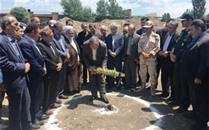آیین کلنگ زنی احداث مدرسه 6 کلاسه در شهرستان نمین