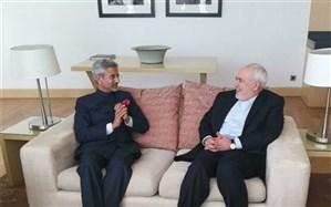 دیدار ظریف با وزیر خارجه هند