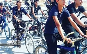 برگزاری یک دوره مسابقه دوچرخه سواری در شهرستان لالی