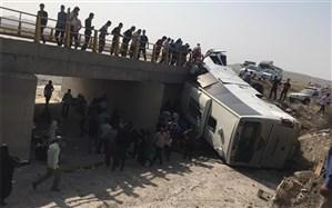 واژگونی اتوبوس زائران مینابی کربلا ، 3 کشته و 38 مجروح برجا گذاشت