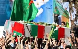 تشییع پیکر دو شهید گمنام در شهرستان میناب