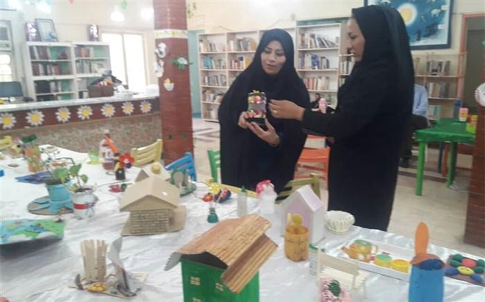 جشنوارهی دست سازههای کودکان و نوجوانان با مواد دورریختنی در شوشتر