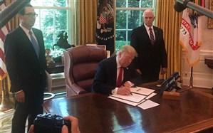 ترامپ فرمان تحریمهای جدید علیه ایران را امضا کرد