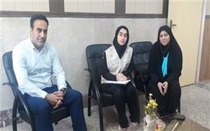 دیدار  خبرنگاران دانش آموز با مسئول روابط عمومی آموزش و پرورش ناحیه یک ری